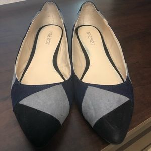 Nine West suede/leather size 7.5 flats